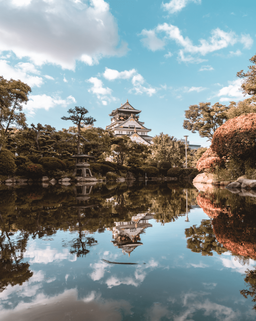 Reflection of Osaka Castle at the Japanese Garden - witandfolly.co