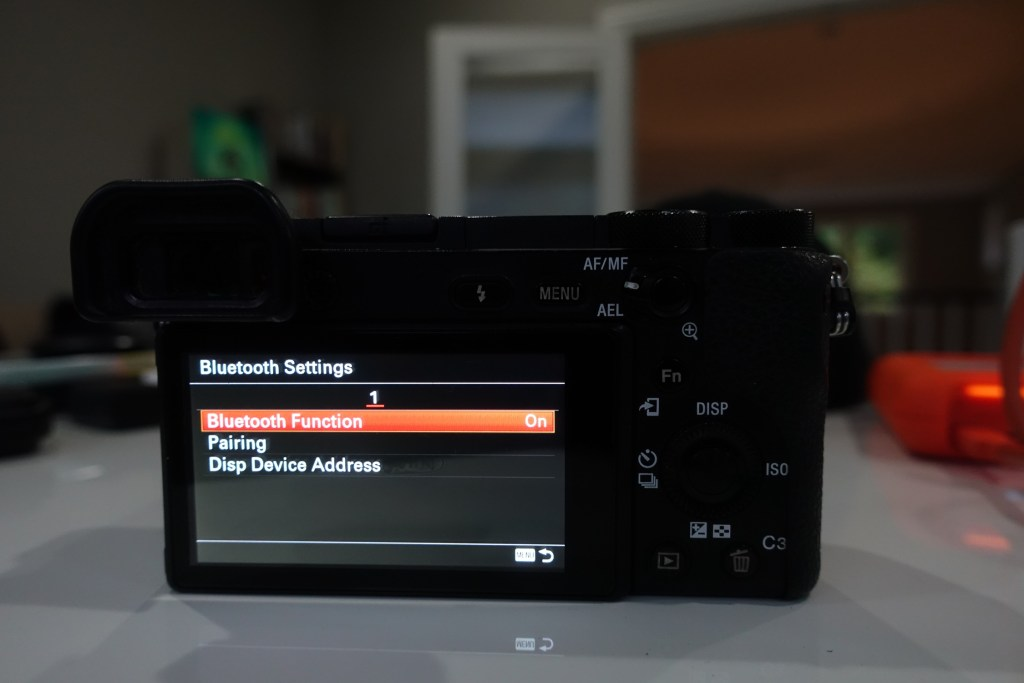 photo of sony a6500 bluetooth settings menu