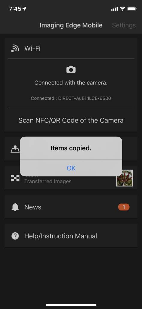 items-copied-imaging-edge-mobile-app