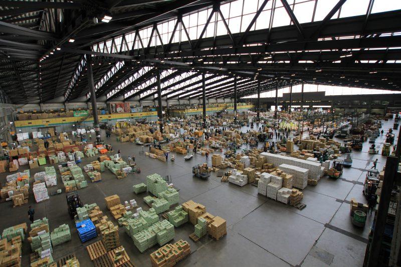 inside of ota flower market
