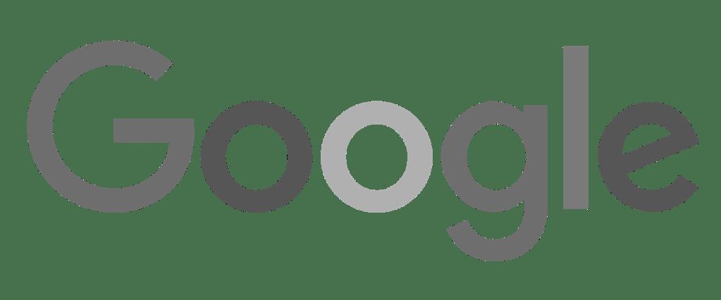 google logo in grayscale