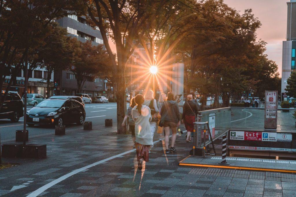 sunbeam in urban setting