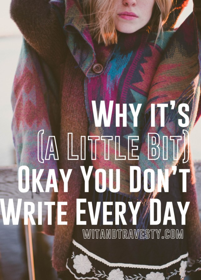 Why you should write with your own personal goals than feel like you have to be as quick or lengthy as everyone else.
