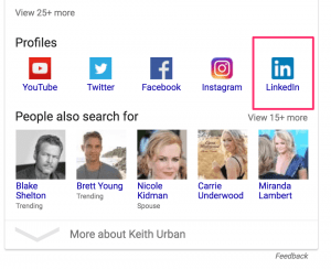 keith urban google