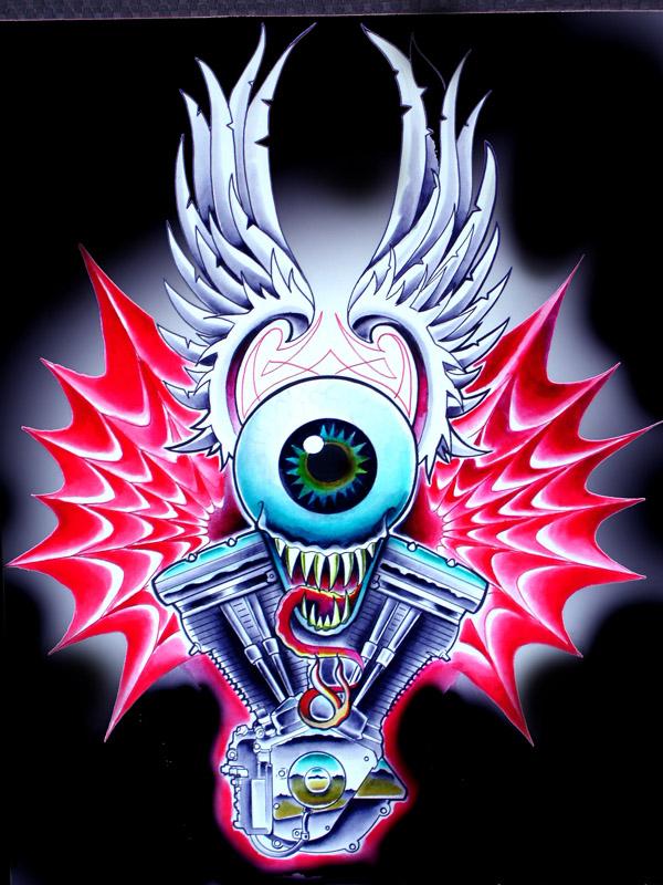 Eyeball With Wings Tattoo : eyeball, wings, tattoo, Dutch, Flying, Eyeball, Painting, Www.imghulk.com