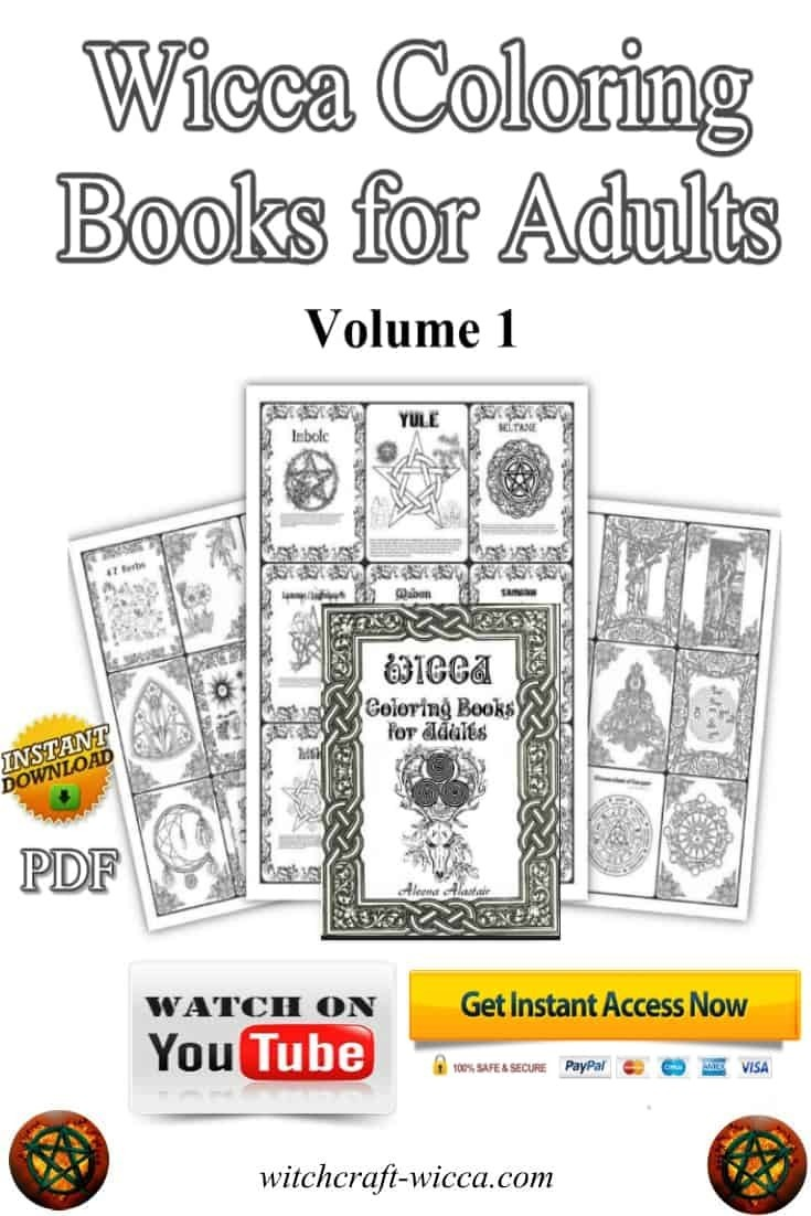 Pagan Coloring Pages For Your Book Of Shadows Pdf Wicca Coloring