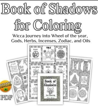 Wicca Coloring Wiccan Books Coloring Pages Book of Shadows