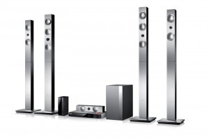 """Samsung's HT-F9750W home theatre system with """"vacuum"""" amp."""