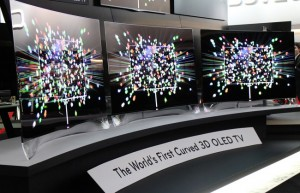 LG's curved OLED panel