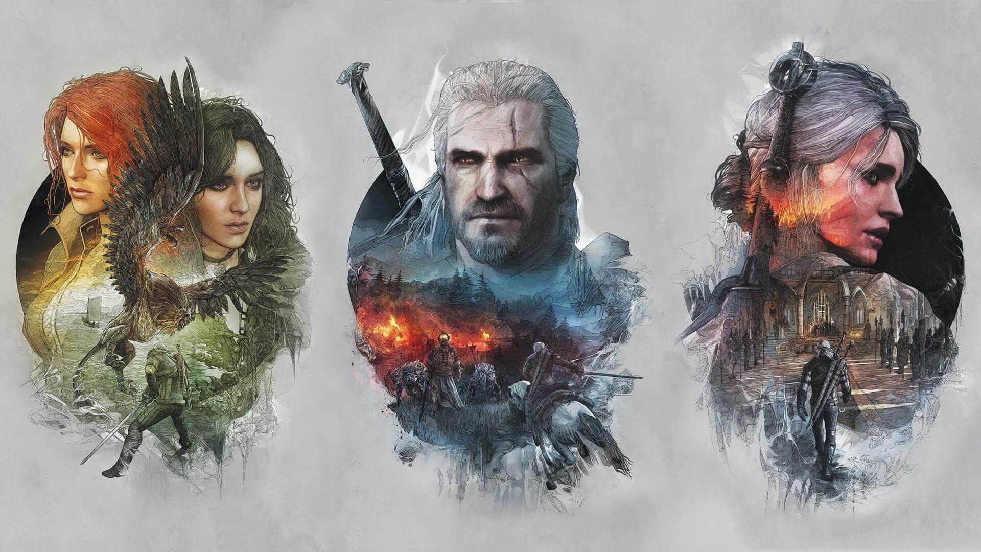 Witcher 3 Ciri Geralt Yennefer Wallpaper