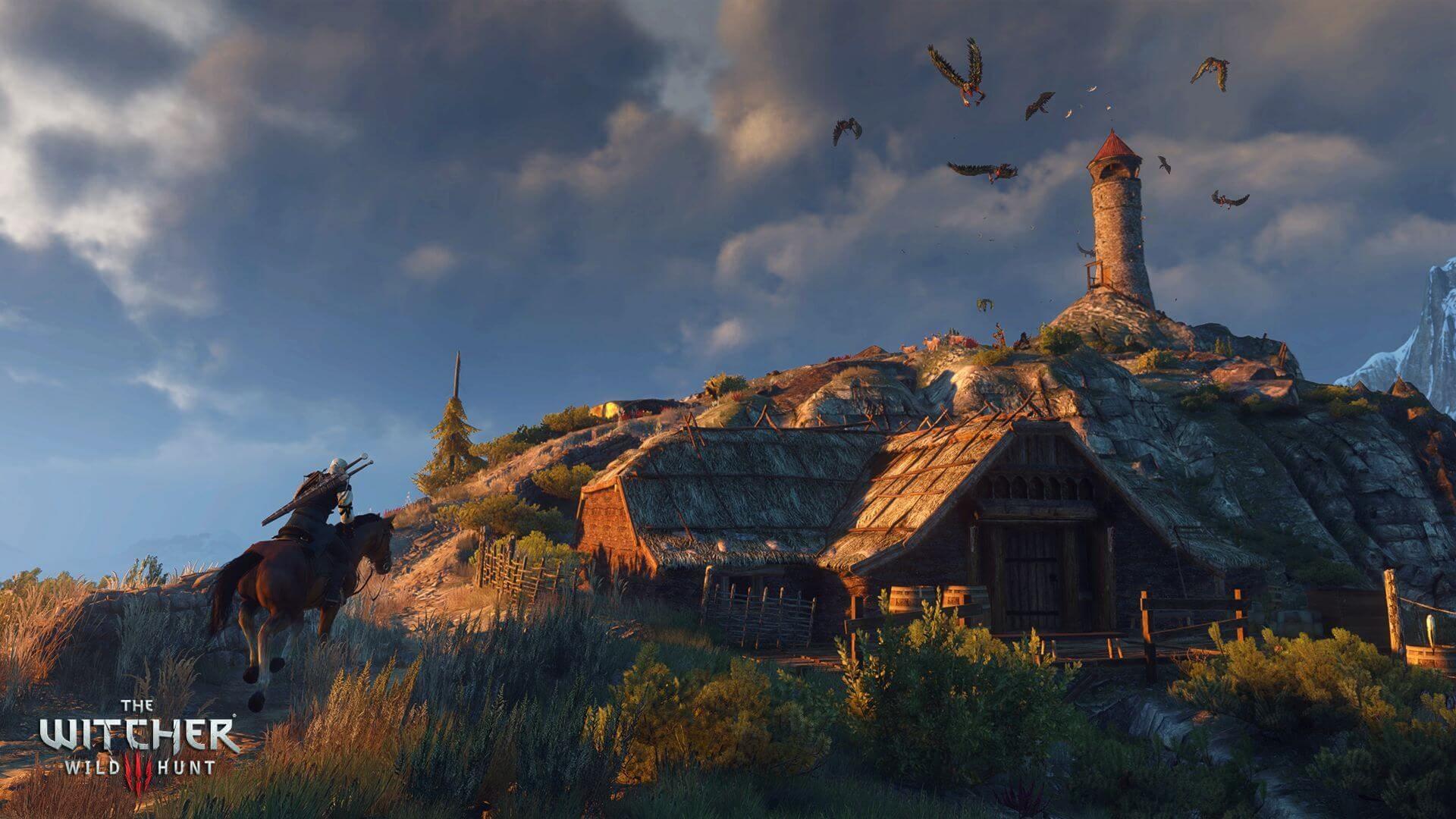 The Witcher 3: Wild Hunt Village Screenshot