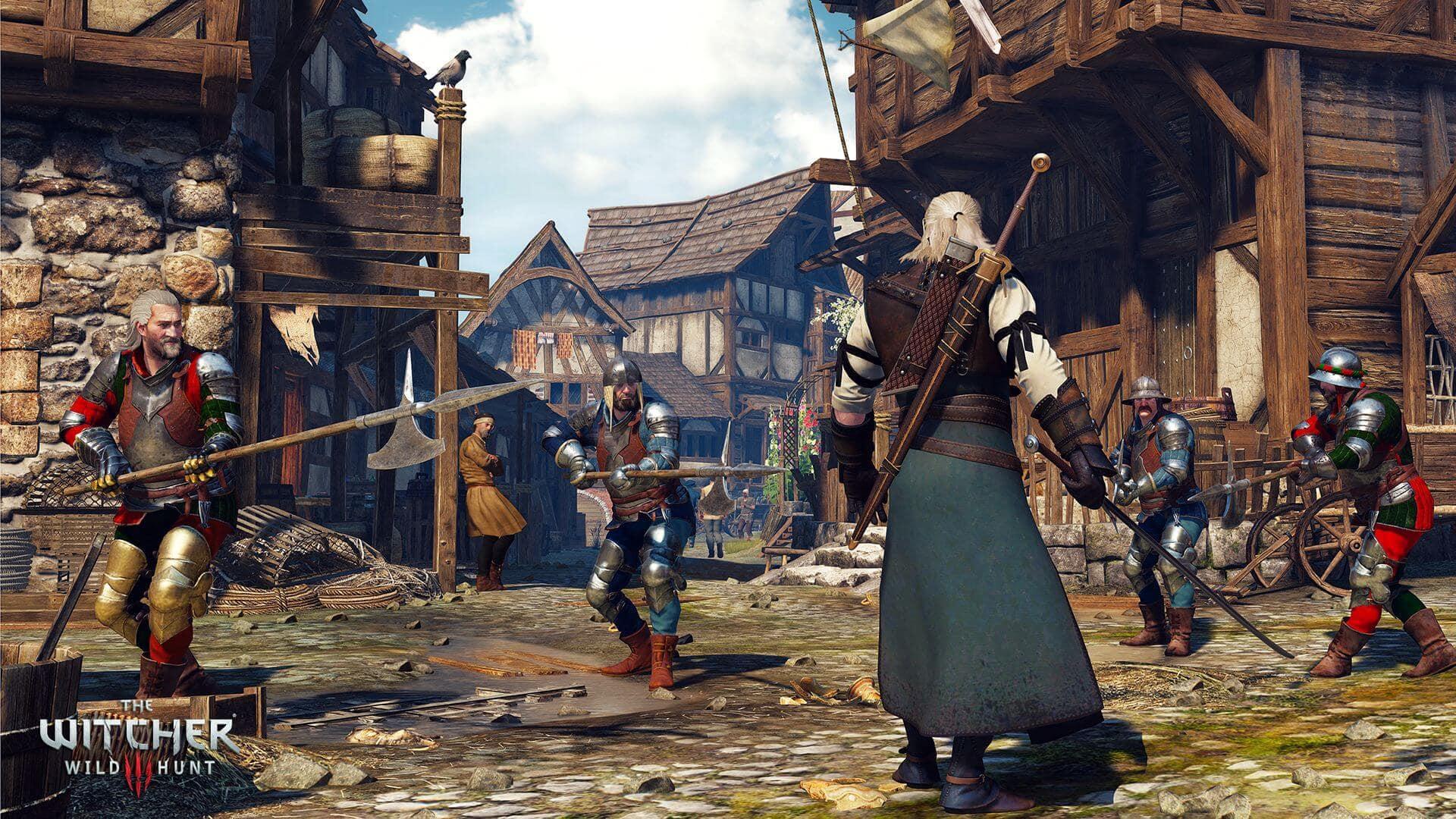 The Witcher 3: Wild Hunt Geralt vs Guards Screenshot