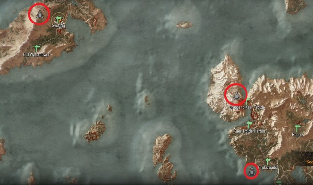 Witcher 3 - Skellige Place of Power Map Locations