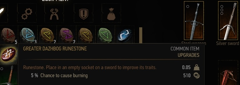 Crafting Runestone Witcher
