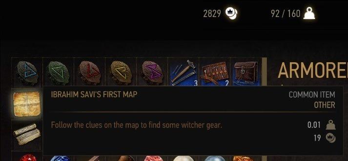 Witcher 3 Wild Hunt School Gear Set Maps