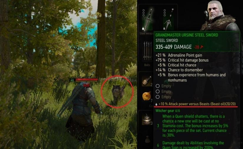 Auto apply oils witcher 3 mod