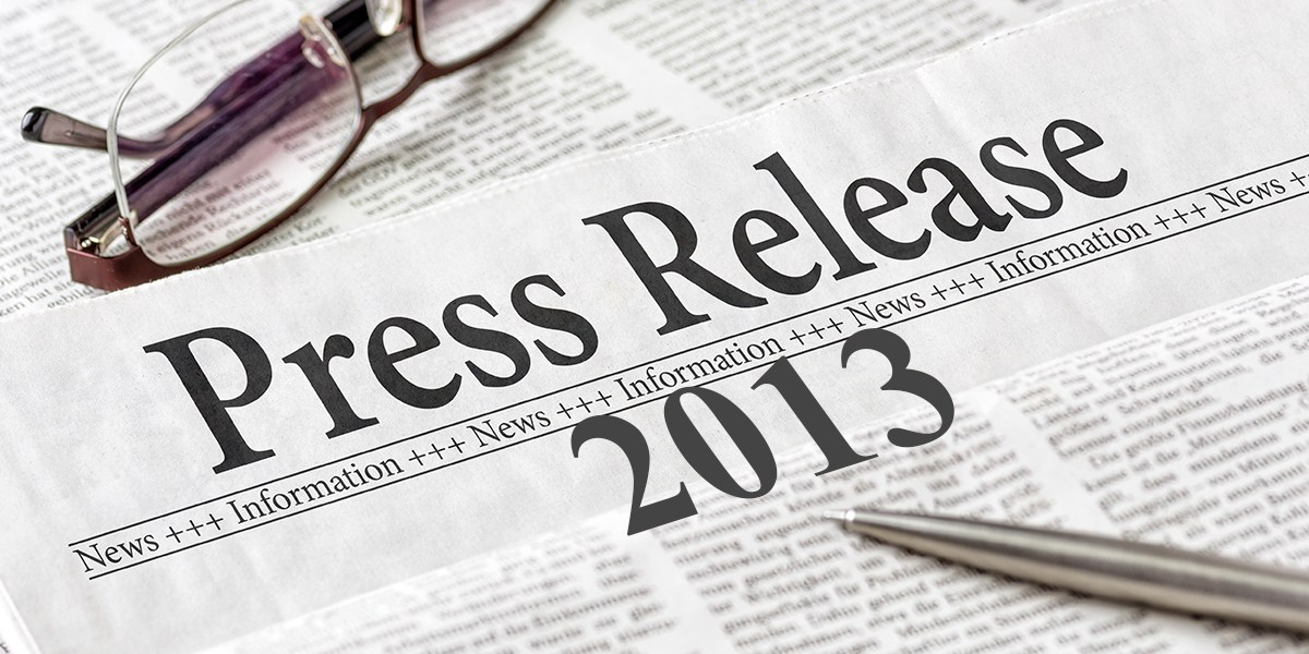 News Releases 2013