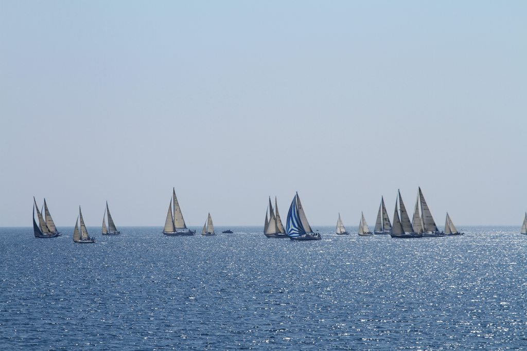 Sailboats in day time
