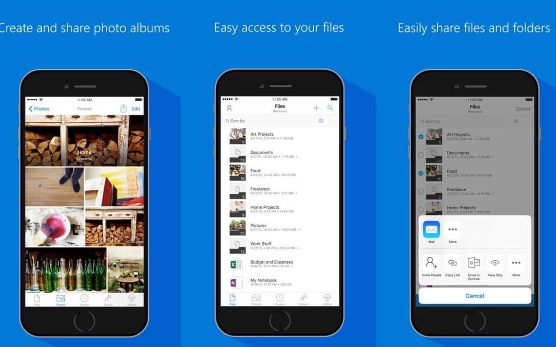 A Microsoft lançou hoje uma grande atualização (v10.1) para o aplicativo OneDrive
