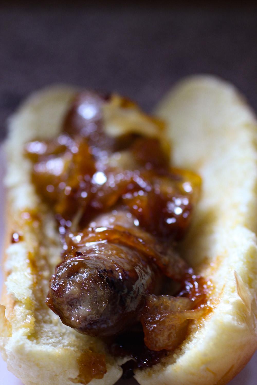Bratwurst With Apple Onion Chutney Recipe With A Splash Of Color