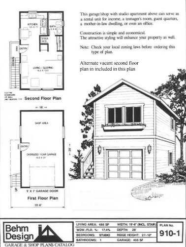Garage Plans: One Car, Two Story Garage With Apartment