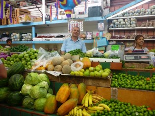 Our favourite veggie man, who we visit at least every other day!