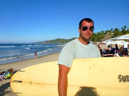 Surfing in Sayulita