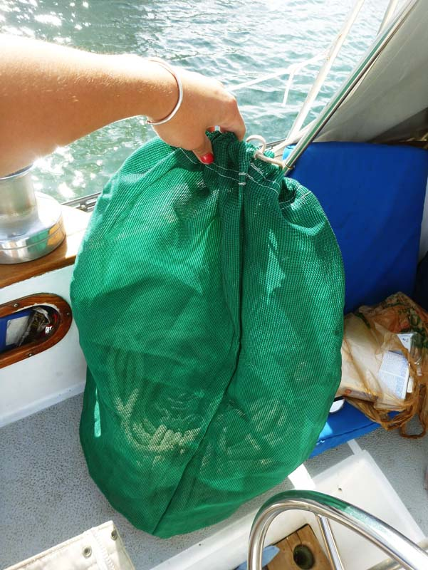 A new sewing project -- bags for the secondary anchor rode