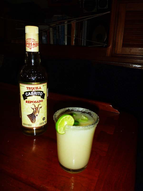 Jon's wonderful Guayana and Tequila drink creation