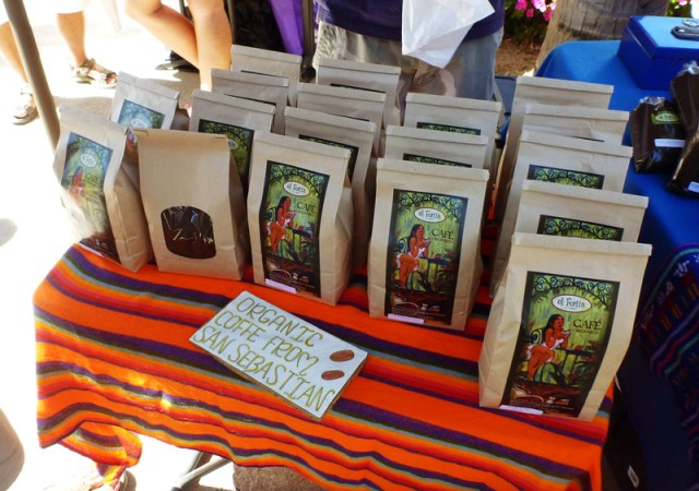 Coffee beans for sale at the market