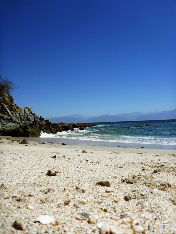 The beach by the anchorage in La Cruz