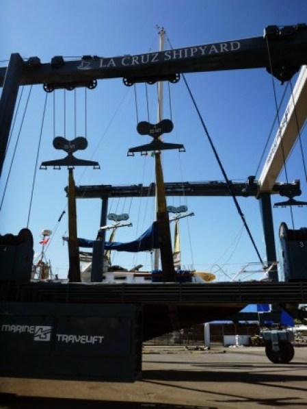 150 ton Travelift at La Cruz Shipyard in La Cruz Banderas Bay