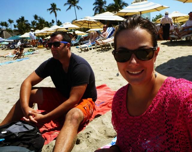 Happy folks on the beach in Sayulita surfing