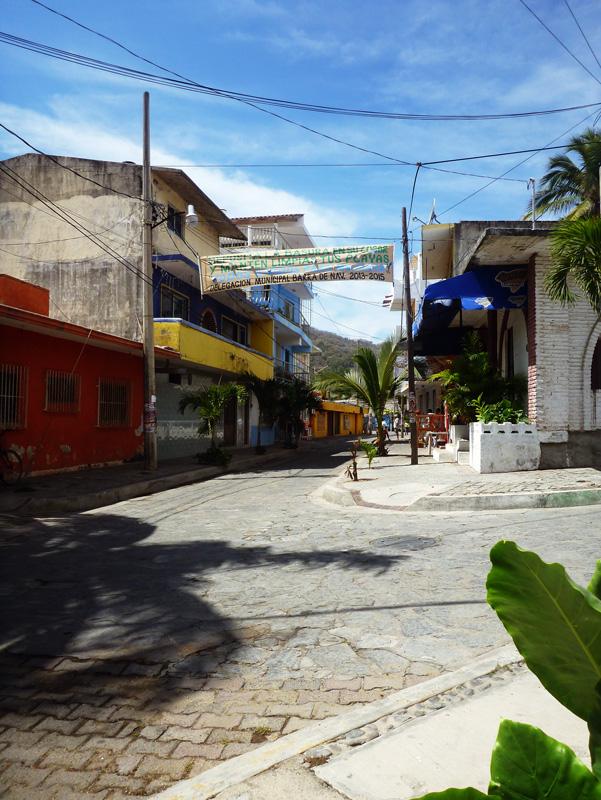 Barra de Navidad - Street in town
