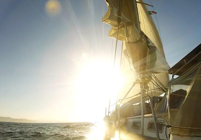 Gorgeous sunrise sailing on Brio