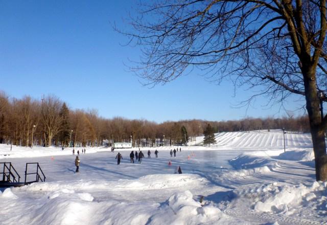 Ice skating - the pond