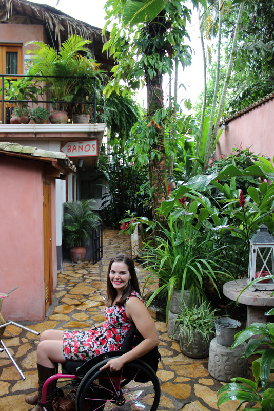 Jess in the Copan Ruins hostel - Viavia