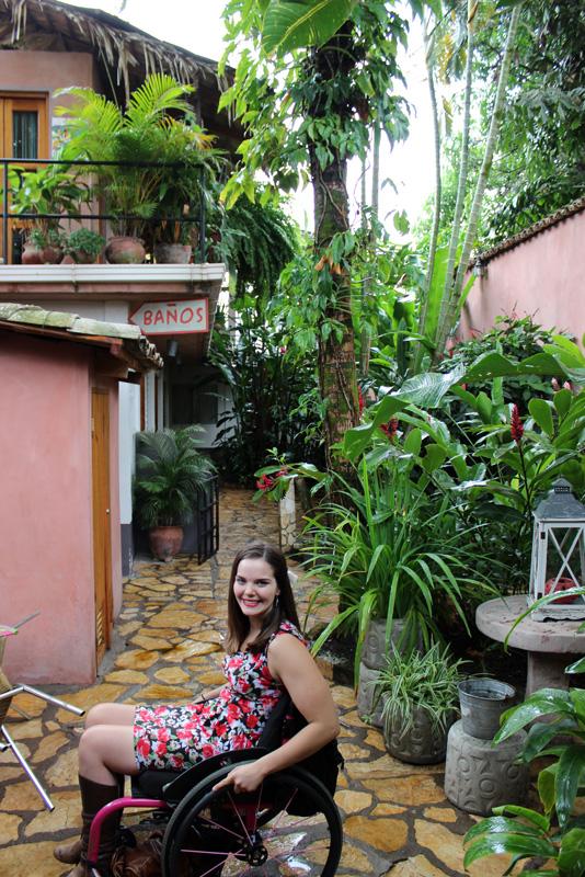 Jess in the Copan Ruins hostel - Viavia