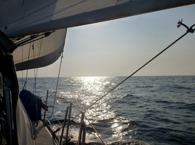 Sailing along beautifully