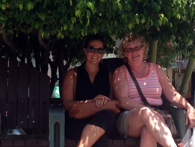 Leah & Maureen in Providencia, Colombia