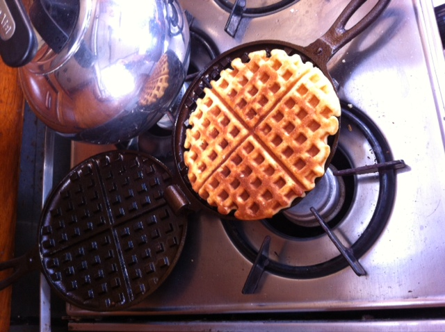 Delicious waffles for breakfast on the boat!