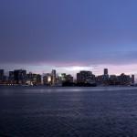 Miami skyline from Marine Stadium anchorage