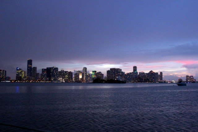 Miami skyline from Marine Stadium anchorage