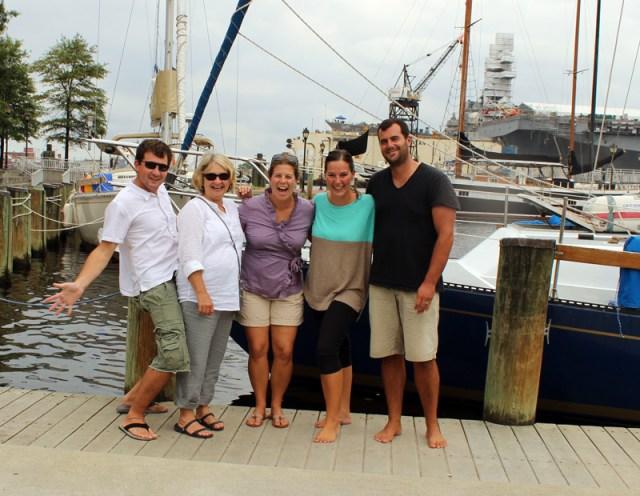 Friends! Cruising in Norfolk, Virginia