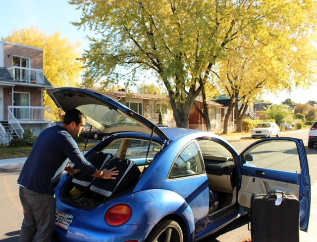 How many bags can you fit a VW beetle? Jon
