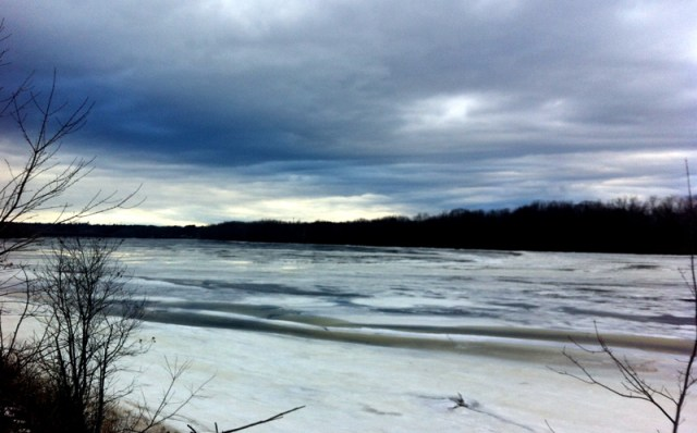 Running along the river in Brunswick, Maine