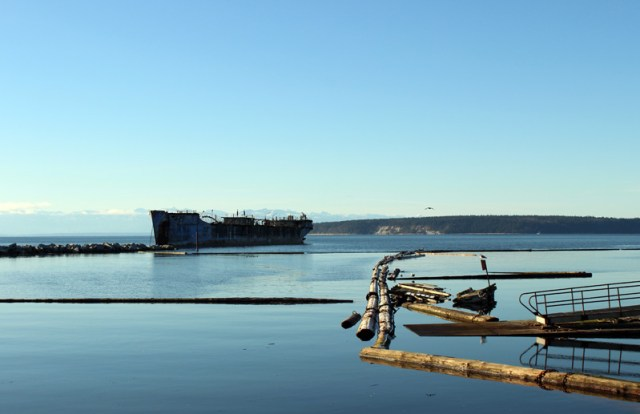 Breakwater in Powell River
