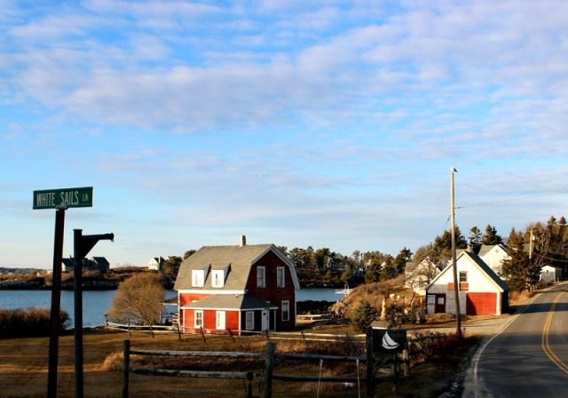Bailey Island, Maine in January