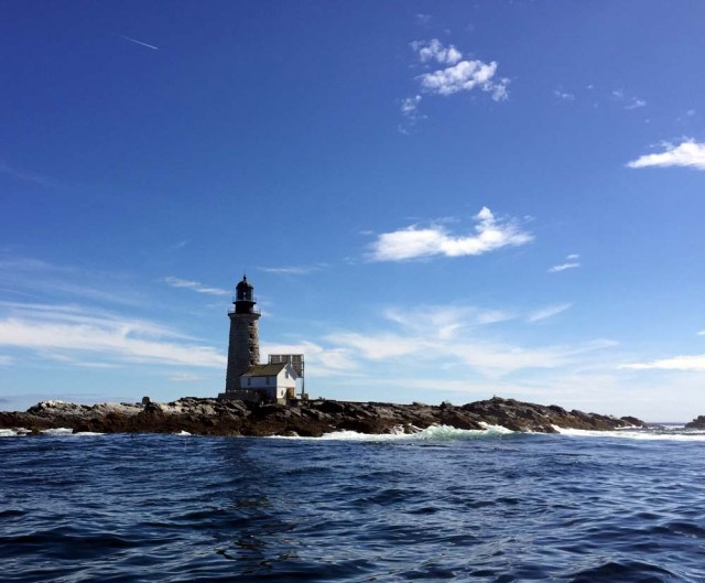 Halfway Rock Lighthouse - from the water