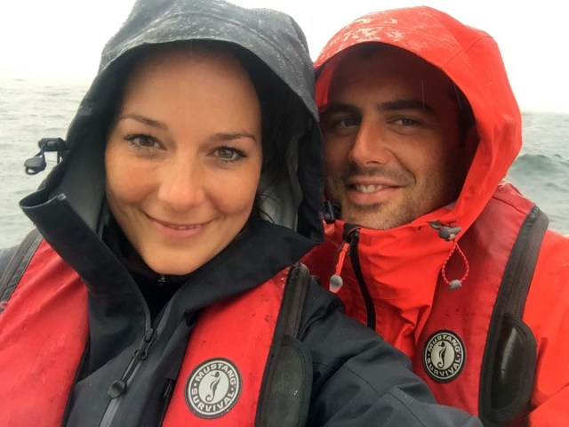 Sailing in the fog with my favourite human